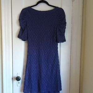 Free People Dresses - Free People Rouched Sleeve Lace Dress